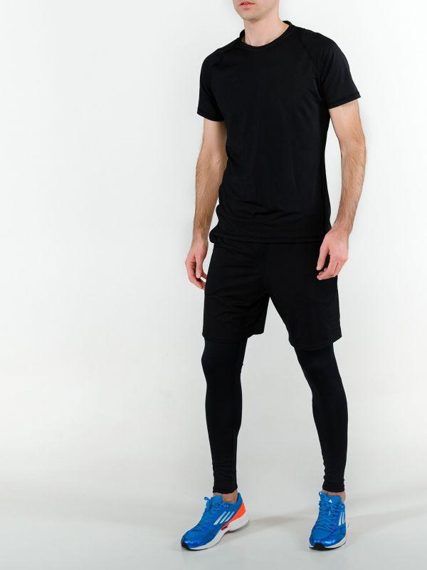 Мужской спортивный костюм для фитнеса черный