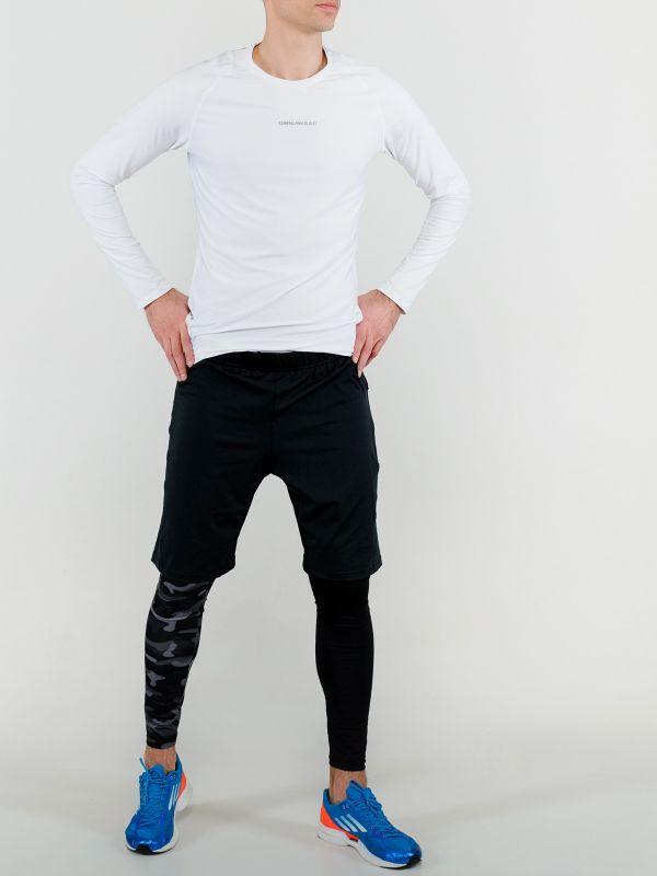 Спортивный костюм для зала с белым рашгардом мужской