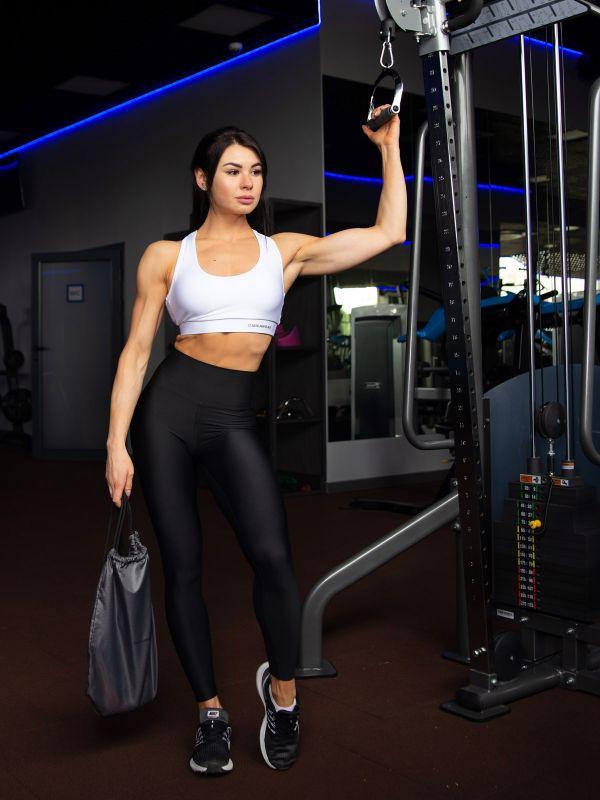 Лосины для фитнеса B-Soft черные на завышенной талии