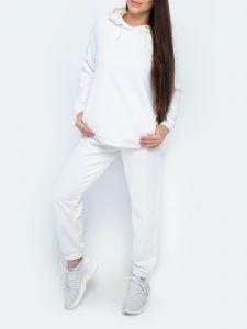 Женский костюм оверсайз с джоггерами молочный