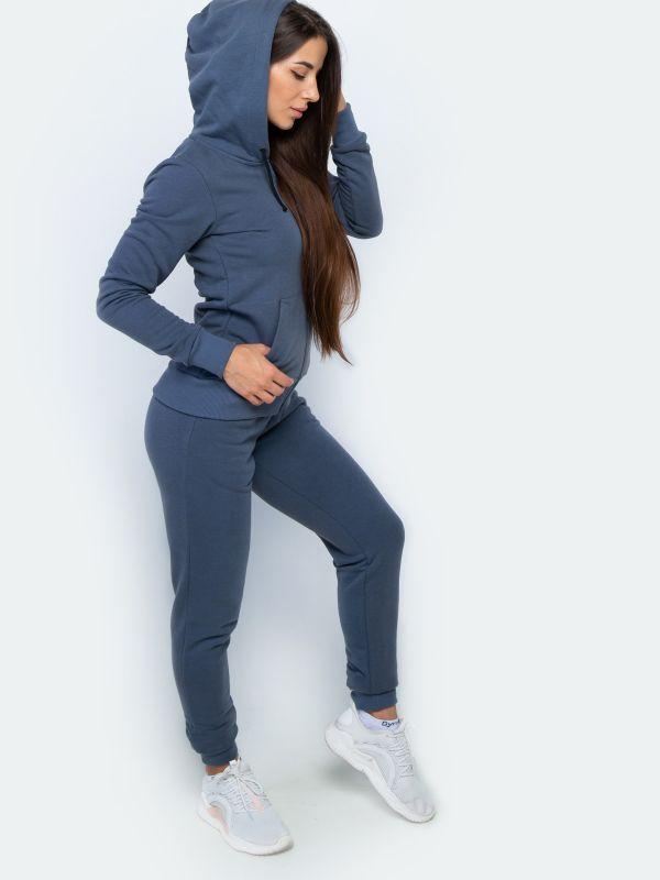 Спортивный костюм женский серо голубой